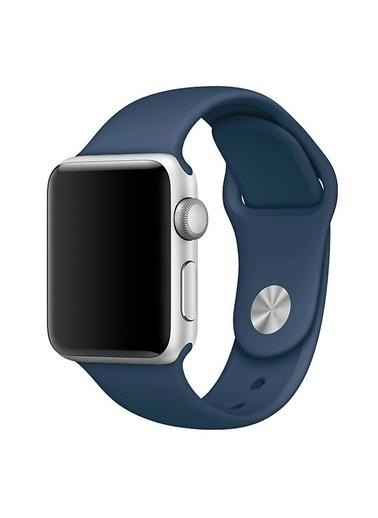 Microsonic Apple Watch 42mm Silikon Kordon Lacivert Lacivert